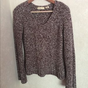 Anthropologie Sleeping on Snow Marled Knit Sweater
